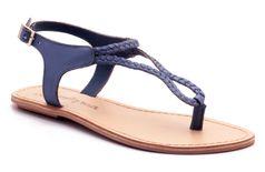 Naughty Walk - 704 Blue Flat Sandals