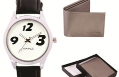 Tanz Mens Fashion Combo Tw015 Watch Grey Wallet