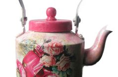 Decorated Aluminium Tea Kettle -S