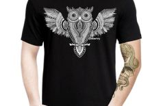 Labartry Men's Round Neck Artist Tshirt 'The Wise Owl'