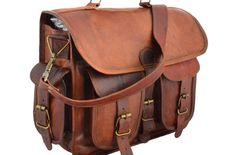 iHandikar Handmade Leather Bag 11x15x4 inch 1267