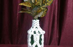 Macrame flower vase cum hanger