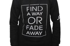 SUMMIT Find A Way Boys Men Full Sleeve Hoodie Black