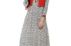 aayusika Beautiful Ethnic Wear Rayon Designer Mill Printed & Embroidered Work Anarkali kurtas 14