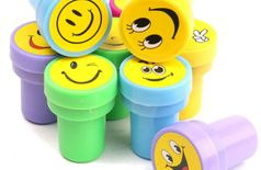 Oytra Stamps For Kids and Teachers   Set of 24 Smiley Emotions