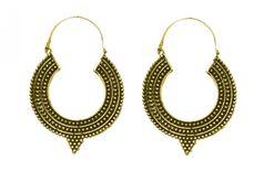 Cemaya Designer Hoop earrings For Women and girls(Gold)