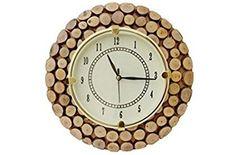 Divine Art  Wooden Wall Hanging Clock Watch, Size(LxBxH-11x1x11) Dail Size 7 Inch