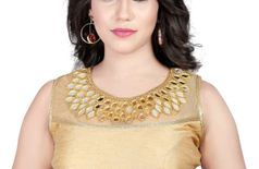 Riddhi fashion Gold Banglori Silk Hand Work Blouse