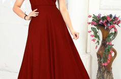 Marron Party Wear Gown