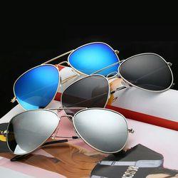 Blue, black, silver aviator sunglasses (pack of 3) for men and women