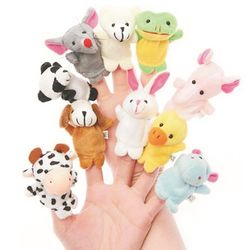 Skylofts Set of 10 Cute Animal Finger Puppets For kids