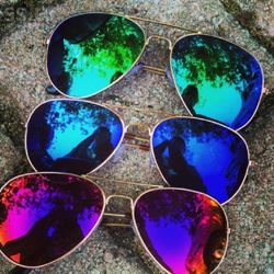 combo of 3 aviator Pink, Blue,Green Sunglasses For man
