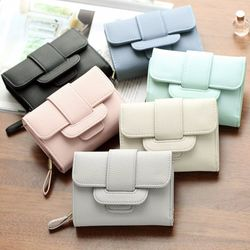 NEW LUXURY SOFT LEATHER WOMEN HASP WALLET FASHION TRI-FOLDS CLUTCH