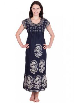 Cotton Nighty Buy Cotton Nighties Online India At Best Prices Women Women  Nightwear - Adonia s Navy Blue Pasley Print Cotton Nighty ... e1fa88eab
