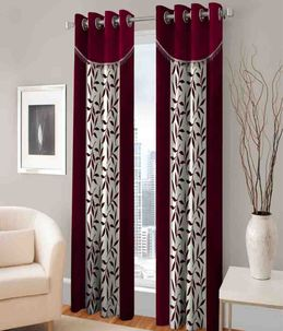 Home And Living Curtains   Home Creations Furnishing Eyelet Fancy Polyester  2 Piece Door Curtain Set