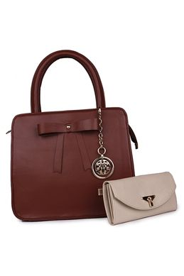 Women Bags And Wallets Marks Hand Held Bag Brown Tie Combo