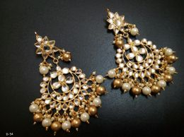 Jodha Series Kundan With Drops
