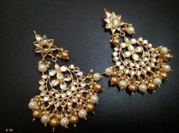 Jodha Series Kundan With Drops