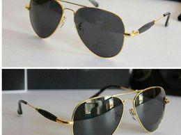 Ray Ben American Aviator Black Glass Gold 3517 Stylish sunglasses for men women Ban Goggles