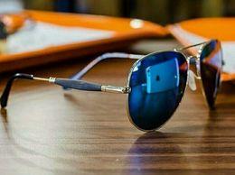 American New stylish Blue Mirror Golden frame 3517 Branded Sunglasses For Men Women