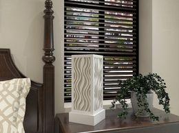 Decornation Table Lamp Flame Pattern - White