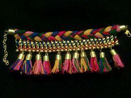 Multicolor Thread Tassel Bracelet