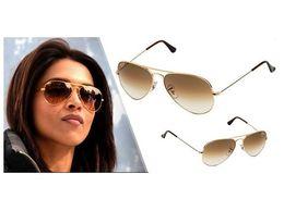 Sunglass Aviator Brown Shade Golden Frame Sunglasses