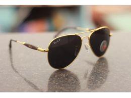 Ray Ben Sunglasses Aviator Black Glass Golden Frame || RB3517 RAY BEN SUNGLASSES