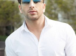 Sunglass Aviator Sunglasses Blue Shade Golden Frame Sunglasses