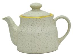 Ceramic Tea Pot, with matt marble finish
