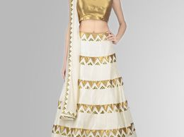 Fit4you  New Navratri Collection White And Gold Colord Lehenga Choli #buy #lehengaCholi #online #india #ladiesFlavour #ladies #flavor #buyOnlineLehenga #latest #lehengaCholi #WomenLehenga #designer #lehenga #kurti #dress #anarkali #western #wear #