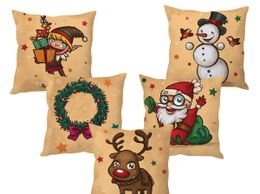 StyBuzz Christmas penguins cushion cover- SET OF 5