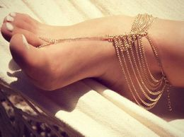 New Beach Tassel Toe Chain Anklet (1 pc)