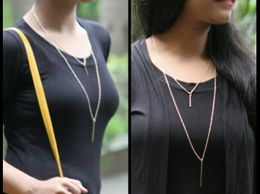 Double Layered Bar Neck Chain