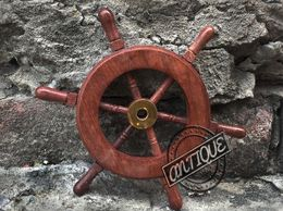 Ship Wheel Maritime Wall Hanging Decor Nautical Boat Steering Wheel - Set of 2