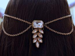 Kundan Foliage Boota Matha patti headchain hair jewelry