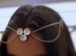 Kundan Berries Antique Gold Headchain Matha Patti Tikka