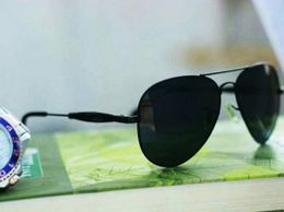 Black and  black aviator style sunglasses for women 04380