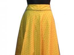 House Of Zii Yellow Bagh Print Handloom Cotton Long Skirt