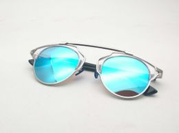 Silver and Blue stylish Aviator  sunglasses 078