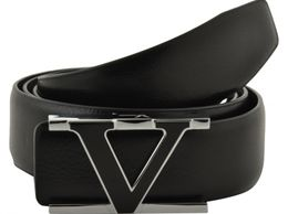 VERSARIO ITALY Men Genuine Leather Black Belt 40-45 (VBE22101BLK1)