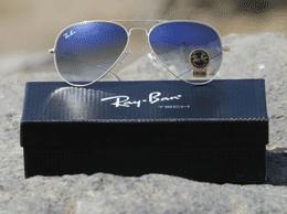 Sky Shaded  Silver Frame Sunglasses For Men RB3026 Sunglass