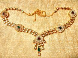 Royal Designer Multicolour Kundan waist belt kamarband wedding jewelry