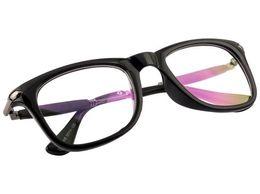Sunglasses Transparent Black Frame Goggles