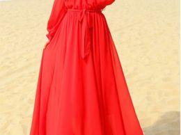 New women's fashion long maxi sleeve dress