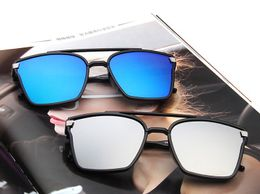 New Fancy Sunglasses Blue And Black Square Trendy Goggles Combo Pack Of 2 Pcs.