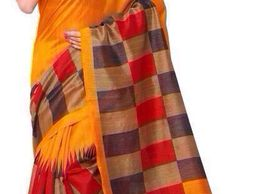 SRP Fashion Selection Multicoloured Bhagalpuri cotton Saree