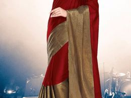 SRP Fashion Selection Red Cotton Silk Saree