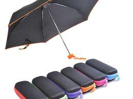 Folding umbrella with square case