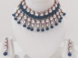 Bridal Choker Necklace Set Jewellery